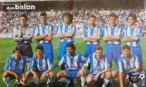 Эспаньол Барселона 93/94 верхний ряд четвертый слева