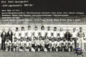 Шталь Хеннингсдорф ГДР 82/83 верхний ряд третий слева