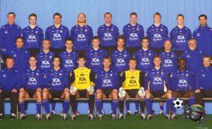 БК Хальмстад 2005 верхний ряд третий слева