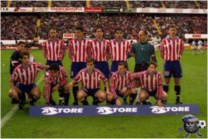 Спортинг 1998 сидит второй справа